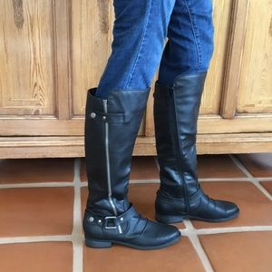 Rampage Isla Black synthetic leather boots